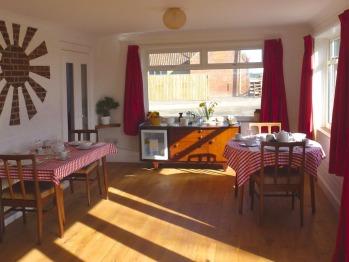 Breakfast area in the Garden Room