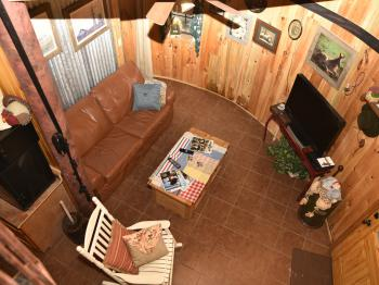 Silo living room area