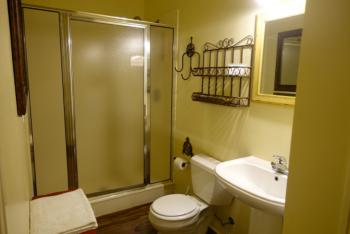Texas Cottage Bathroom #1 with walk-in shower