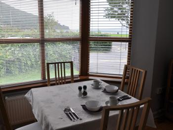 Breakfast room overlooking the Lough and Mountains