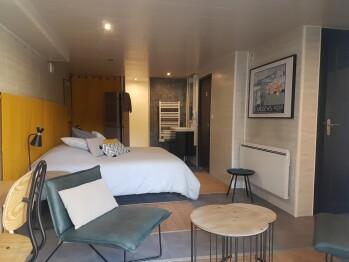 L'Albatros: chambre de 28 m2 avec entrée et terrasse indépendantes