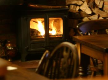 The cosy wood burner