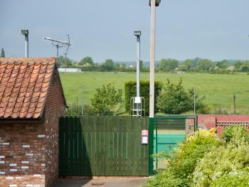 Tennis court and countryside views