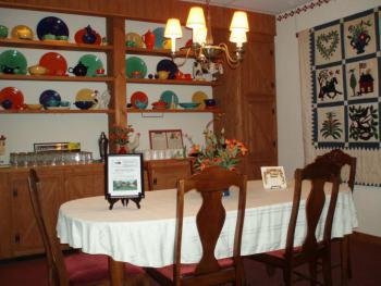 Small dining room with antique Fiestaware Collection