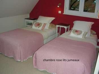 2. Chambre Rose-Double ou Twin-Douche-Vue sur Jardin - Tarif de base