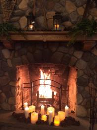 The fireplace in the Great room is a beautiful gathering area or a popular wedding ceremony location