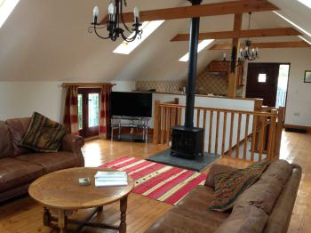 This is the Barn Lounge area, just part of a huge, bright open plan area.