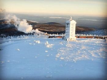 Brockenbahn auf dem höchsten Berg Mitteldeudschland´s - den Brocken
