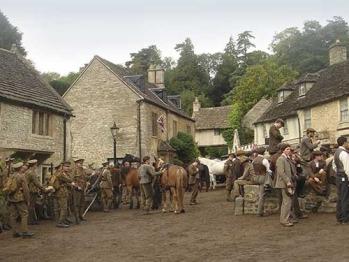 War Horse filming, Castle Combe (2.5 miles away)