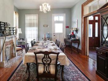 The dining room which is always available to guest to share with family, ,plan events,relax with tea etc..and enjoy the many uses they please