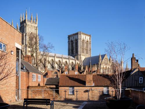 Stonegate Court common area - lovely place for a coffee to take in the best view of the Minster in York