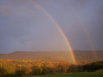 Rainbow over Massanutten Mountain