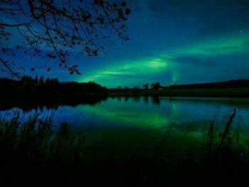 Come see the Northern Lights. Aurora Borealis are common in the area