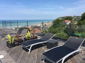 La piscine Quartz, terrasse panoramique sur mer