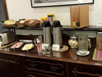 Breakfast Buffet - fresh brewed Brazilian coffee and selection of breads, cereals, fruits, cheeses and cold cuts