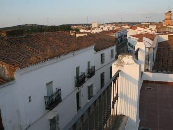 Calle hacia la Plaza desde la terraza/solarium.
