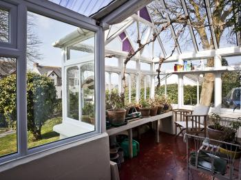 The small conservatory - great for afternoon tea whatever the weather