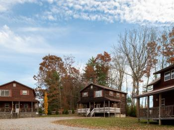 Rosewood, Dogwood and Chestnut Chalet close enough for a family reunion but far enough for privacy.