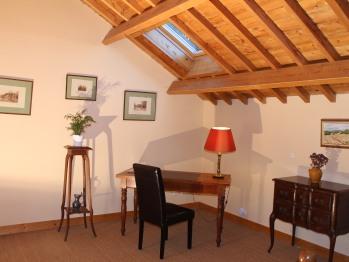 Chambre Bruyère : sa table de travail