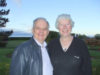 Birdwatchers Graham and Catherine at Carlton Seamill
