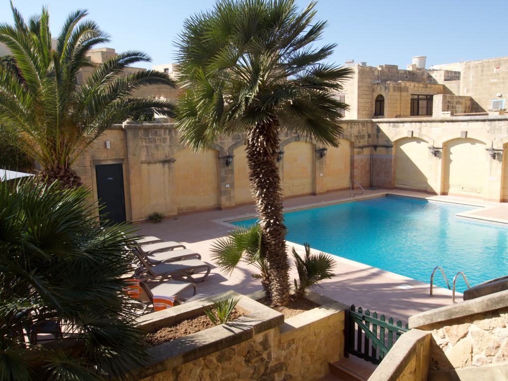 One of the biggest pools at Gozo
