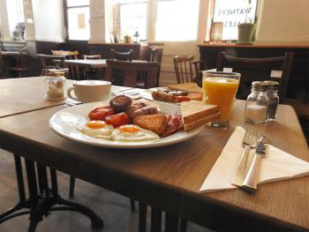 The Harrison - Delicious cooked full English breakfast cooked to order.