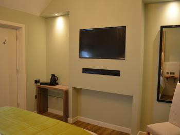 Guest-room facilities include a smart HDTV with sound-bar, coffee and tea making tray, console table and hairdryer.