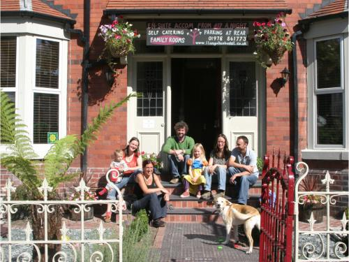 Happy guests staying at the family-friendly Llangollen Hostel