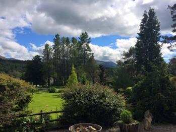 Front garden overlooks Aonach Mor