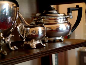 Tea pots for breakfast service ready