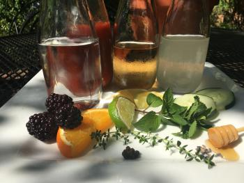 Craft cocktails featuring housemade syrups, accents from our herb garden, and classic flavors
