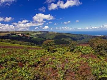 View from Dunkery Beacon looking across to Porlock Bay, Exmoor