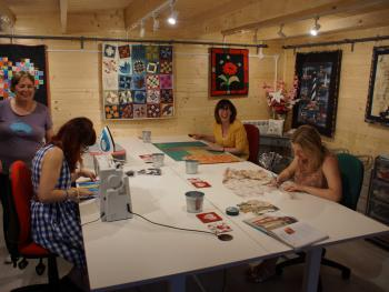 The quilt studio - for quilt retreats for up to 4 people