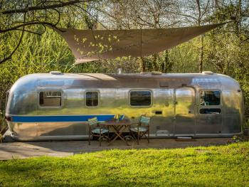 American Airstream Caravan in spring
