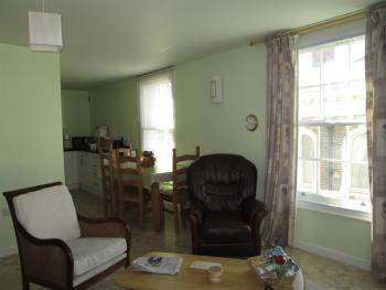 looking towards dinning area and kitchen