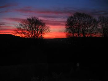 Spinneycross - A winter sunset from guest bedrooms | Spinneycross, Corsham