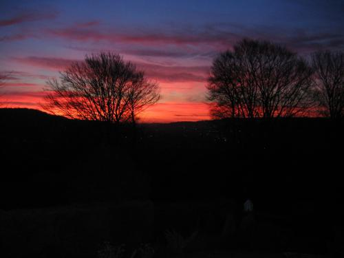 A winter sunset from guest bedrooms | Spinneycross, Corsham