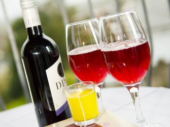 Relax and enjoy a drink on the Polzeath room balcony overlooking Wadebridge