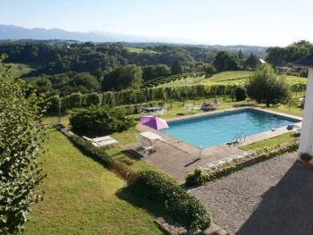 The seasonal outdoor pool