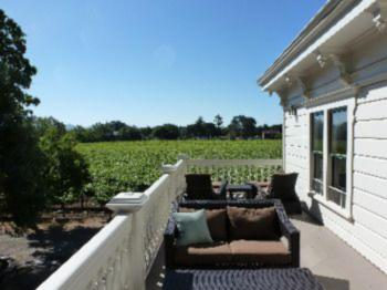 Guest Balcony Overlooking Vineyard