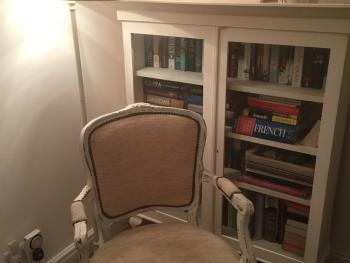 Bookcase and reading area