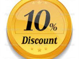 10% Discount Available