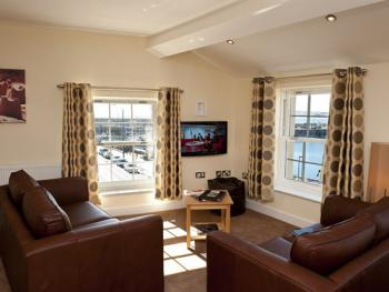 Lounge Area with a Harbour View