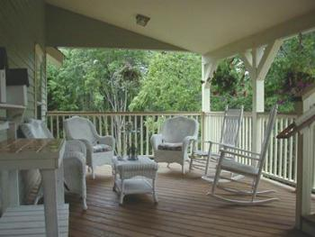 This is the other side of the porch where you can relax and unwind.