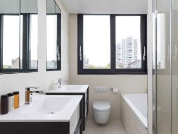 En suite bathroom with bath and shower facilities