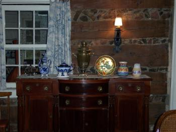 Serving Buffet in Dining Room