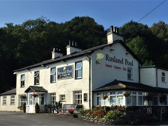 Front of the Rusland Pool Hotel