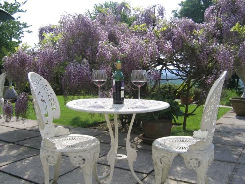 Enjoy a glass of wine on the patio | Spinneycross, Corsham