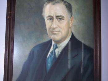 Portrait of Franklin Delano Roosevelt in FDR Suite