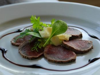 Venison Carpaccio served in The Coleridge Restaurant
